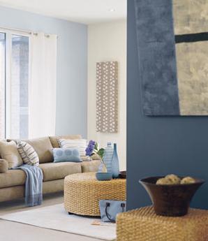 study room wall ideas dulux stream angora blue off white for the rh pinterest com