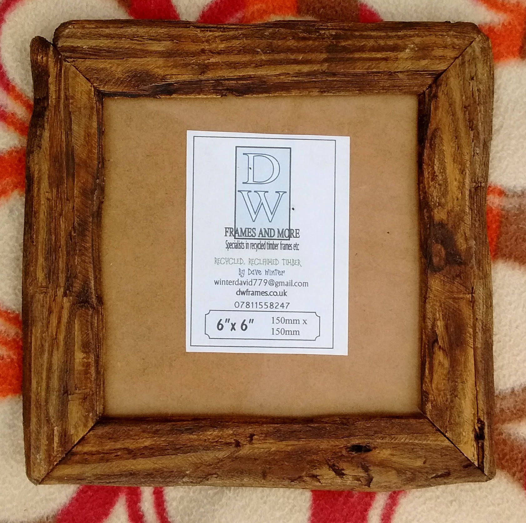 Rustic/driftwood style frames in locally sourced,old recycled pine ...
