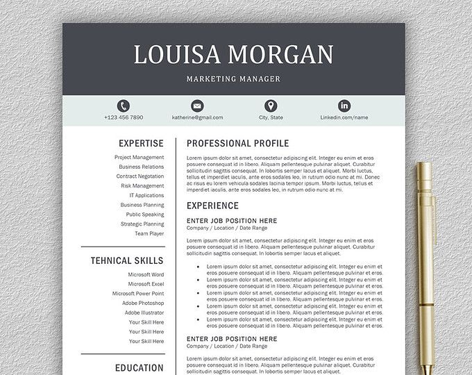 Creative Resume Template Teacher Resume Creative CV Design Brother
