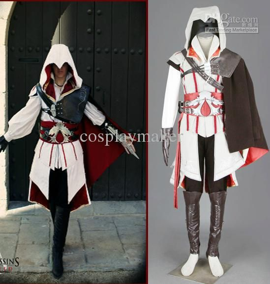 Assassin S Creed Ii Iii 2 3 Ezio Altair White Anime Cosplay
