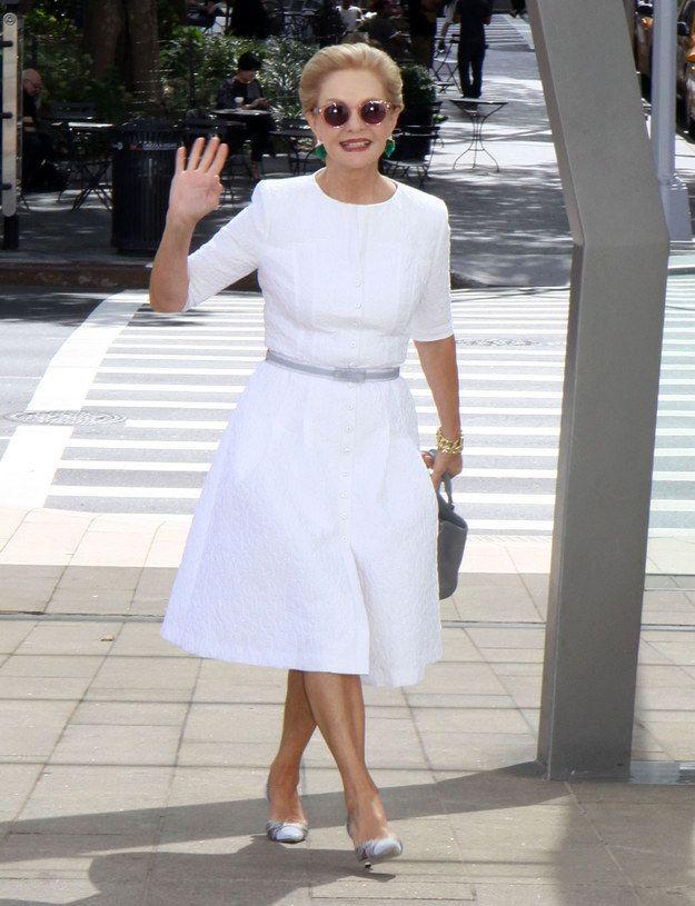 Carolina Herrera At The 2014 Couture Council Award Luncheon Benefit Honoring Carolina Herrera