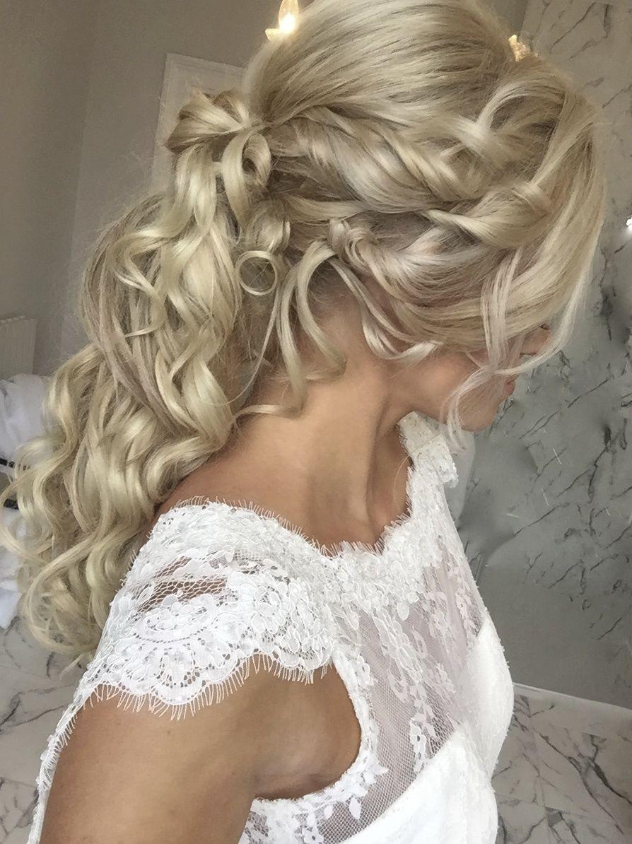 Textured Ponytail Bridal Hairstyle Boho Wedding Hair Bridal Hair Hair Specialist