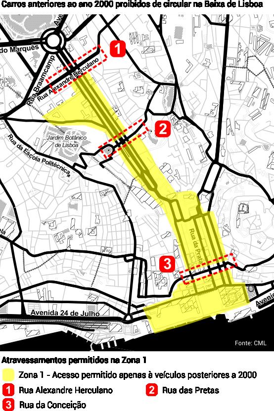 rua da escola politécnica lisboa mapa Afinal, que carros podem circular no centro de Lisboa? | Pinterest rua da escola politécnica lisboa mapa
