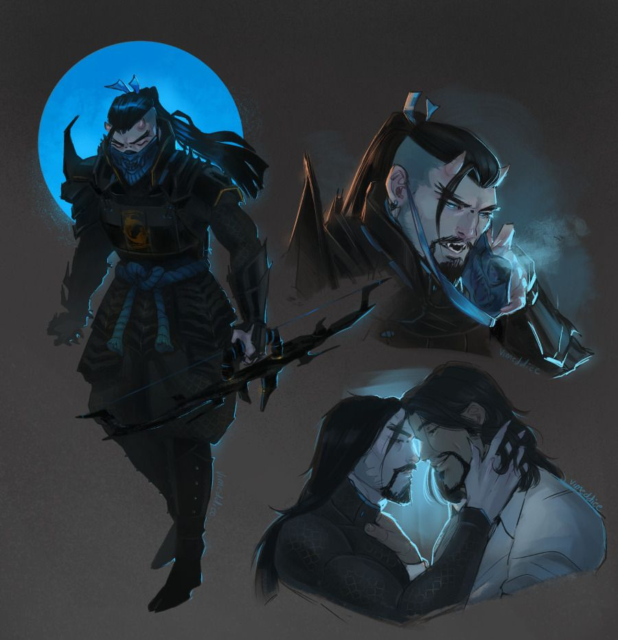 """vimeddiee: """" Additions to the vampire!Hanzo and van Helsing"""