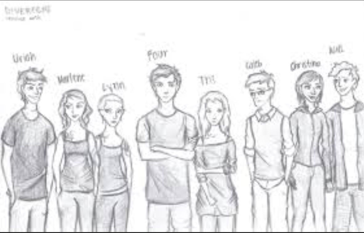These are the main characters in the novel Divergent by