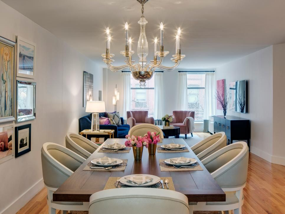 Transitional Living Space and Dining Room Pictures | HGTV ...