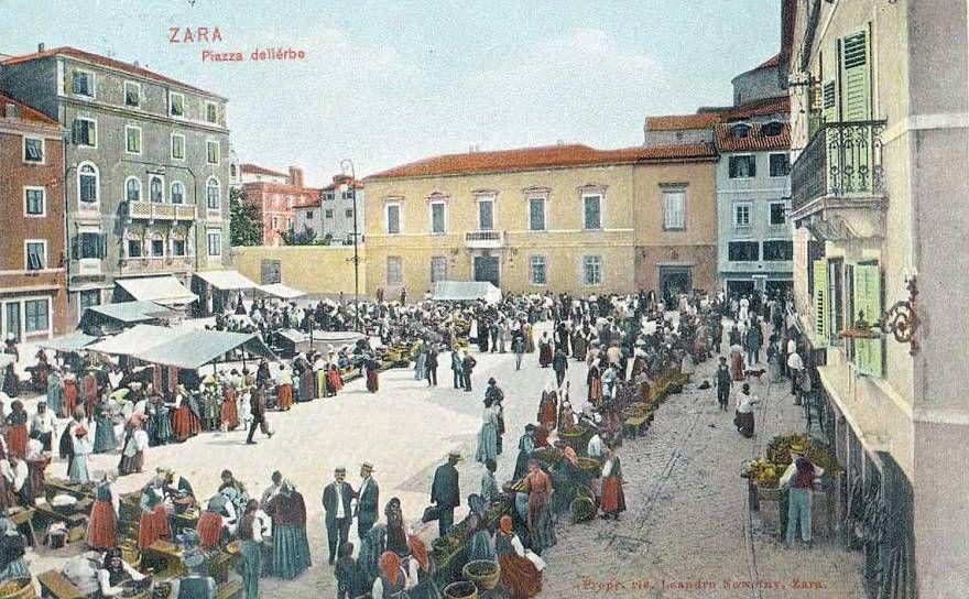 Zadar Zara Old Postcard Zadar Old Postcards Street View