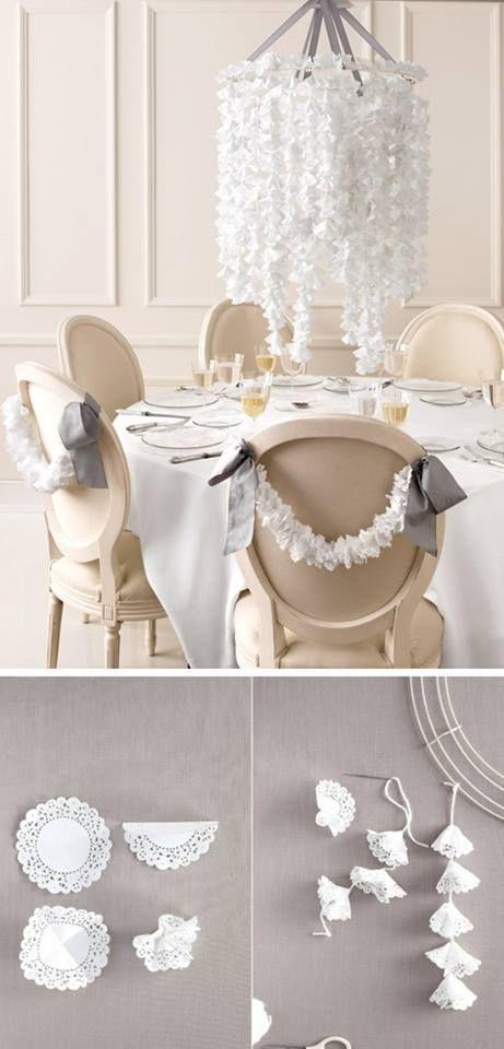 Cute Paper Chandelier Tutorials Pinterest Paper Chandelier - Beautiful diy white flowers chandelier