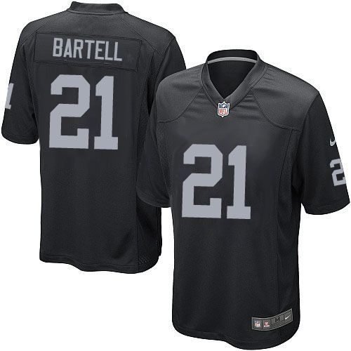 youth nike oakland raiders 21 ron bartell limited black team color nfl jersey sale mens