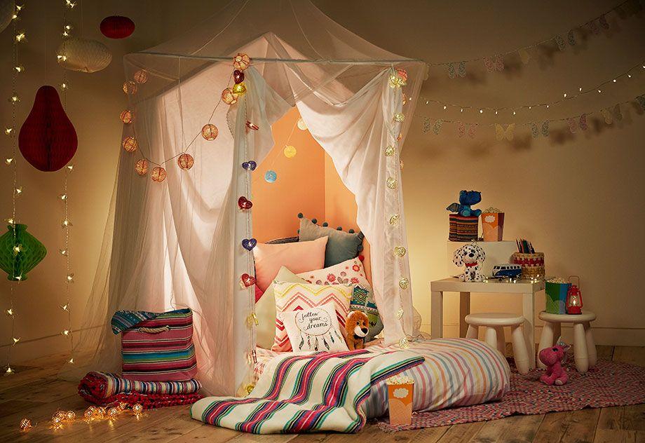 quarto festa de pijama crianças