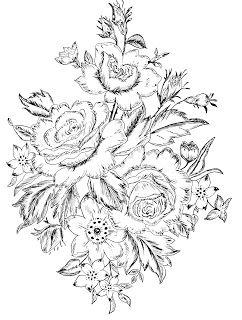 Quatang Gallery- Day 3 Flower Designs Kleurplaten Kleuring Rozen