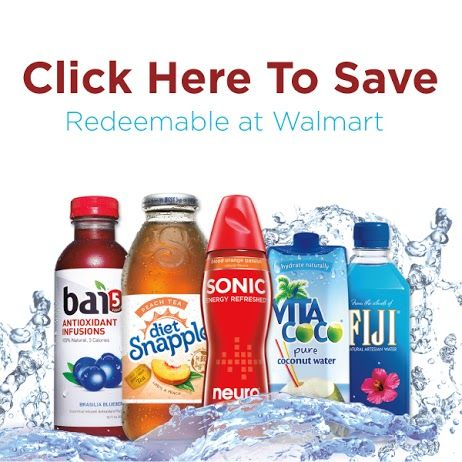NEW COUPON Save at Walmart when you Shop for Snapple