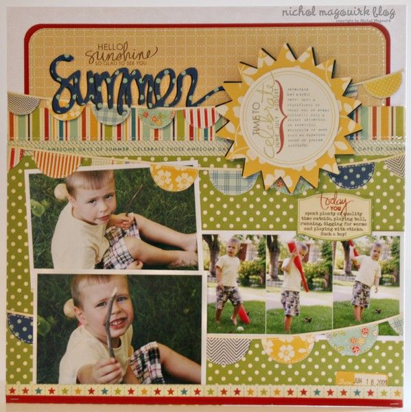 Technique Tuesday Ali Edwards Family Circle Layout - Two Peas in a Bucket