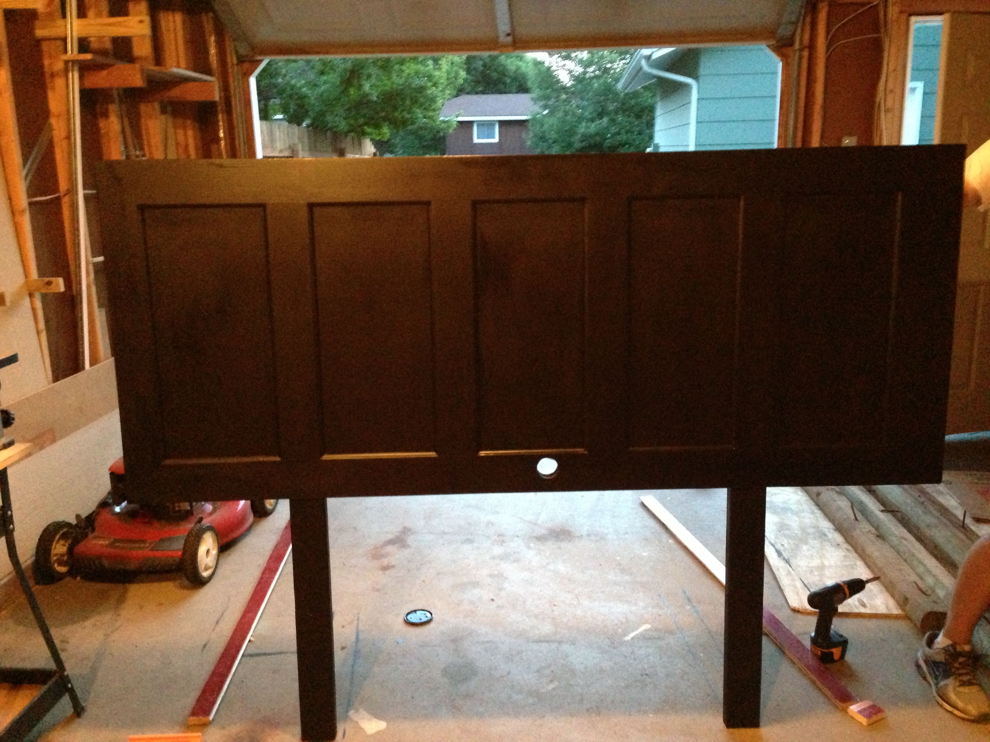 Diy headboard made from old door crafts pinterest diy