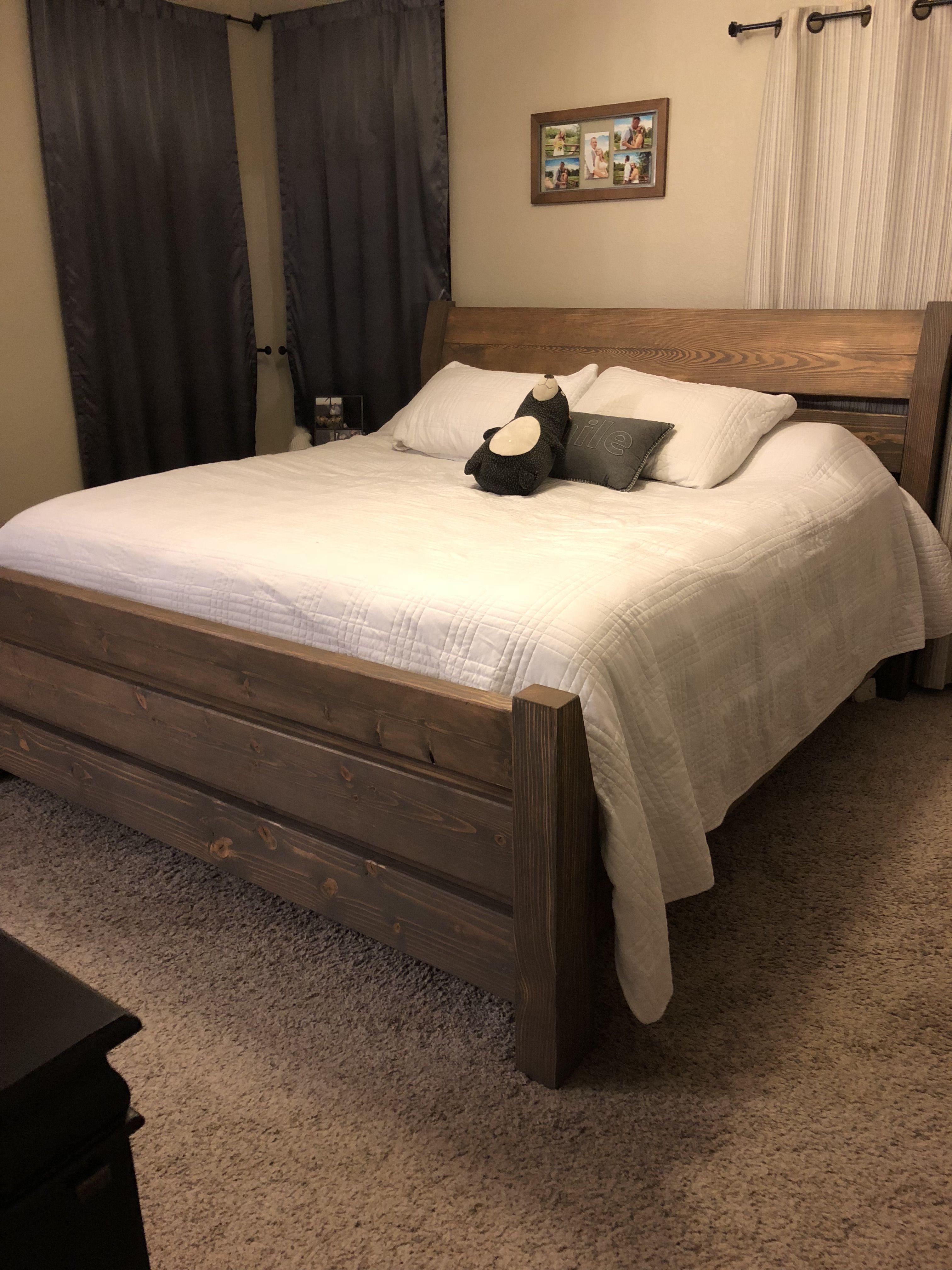 Amish Copycat King Size Bed Frame Diy King Size Bed Frame King