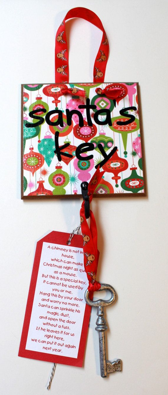 Magic Key  Christmas Ornament  Christmas Eve Key  by OurMomsTouch