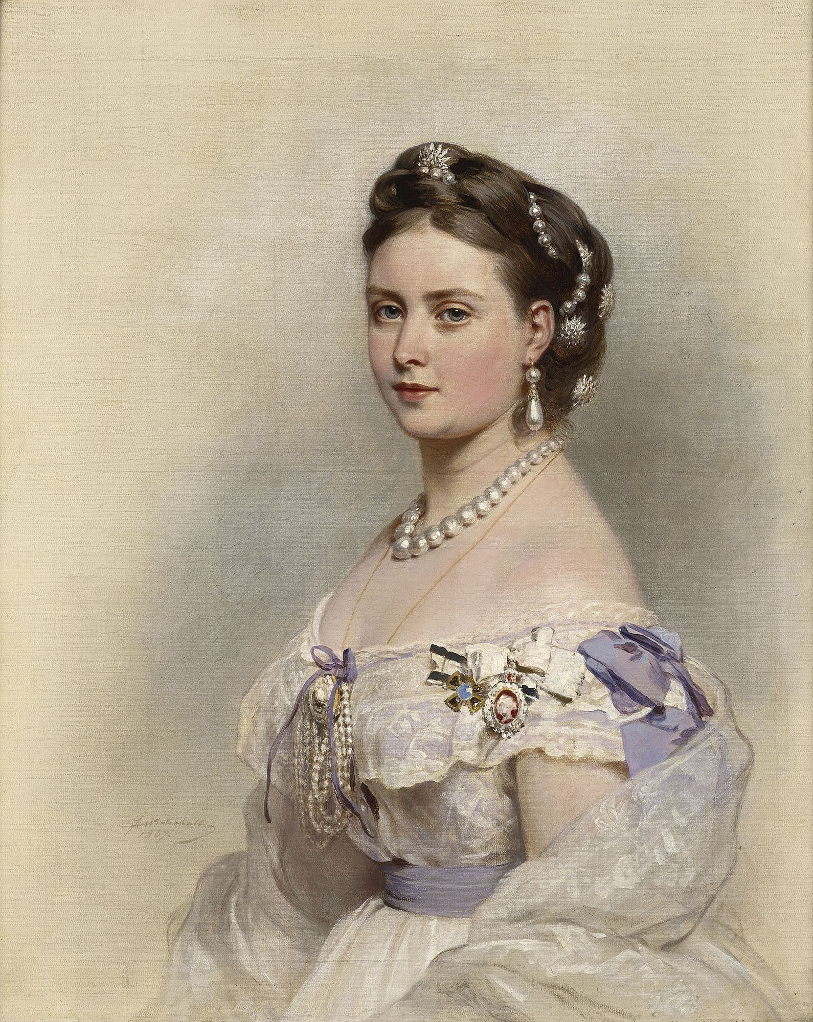 Franz Xaver Winterhalter (1805-73) - Victoria, Princess Royal, Crown Princess of Prussia (1840-1901)