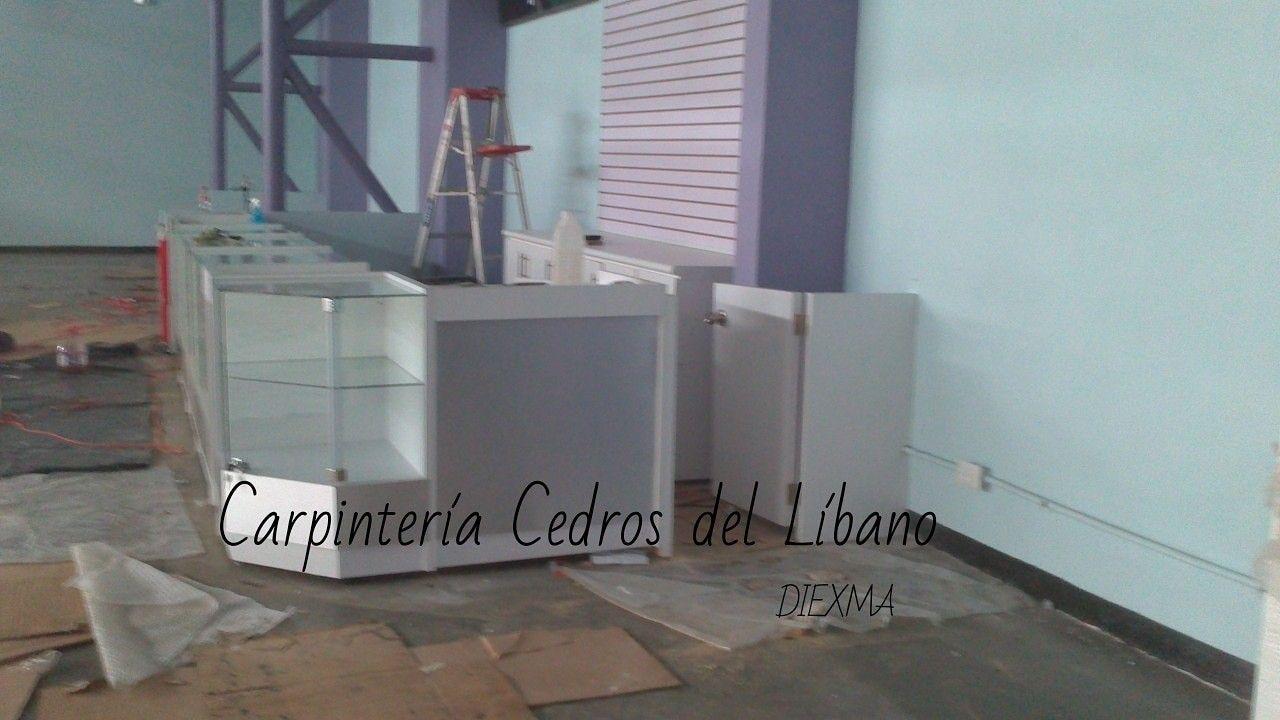 Poco A Poco Van Dando Forma Los Muebles Vitrinas Esquinero Y  # Muebles Cedro Y Nogal
