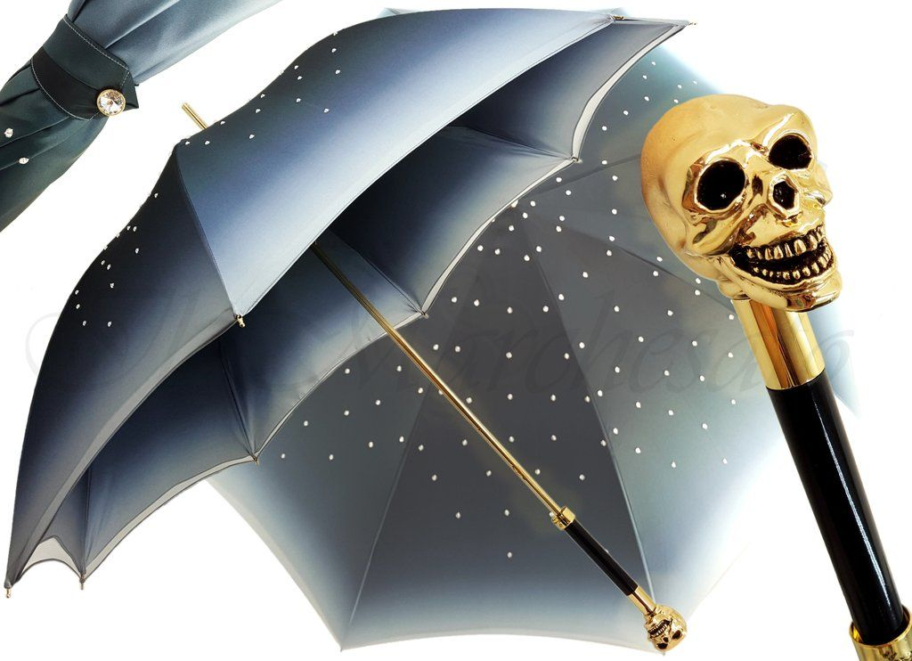 il Marchesato Gold Skull Umbrella
