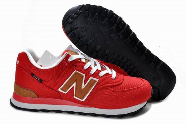 Joes New Balance 574 WL574PBR Retro Red Brown Backpack Womens Shoes