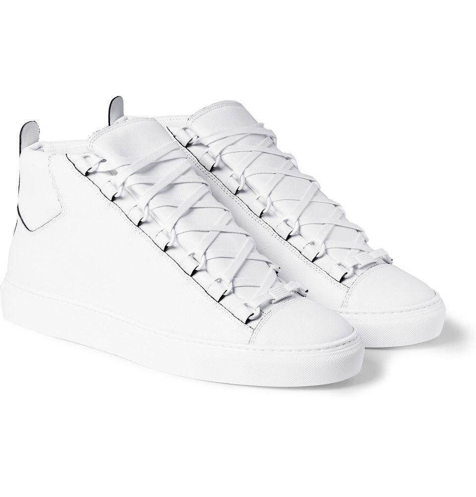 460654d487cc Balenciaga - Arena Leather High Top Sneakers