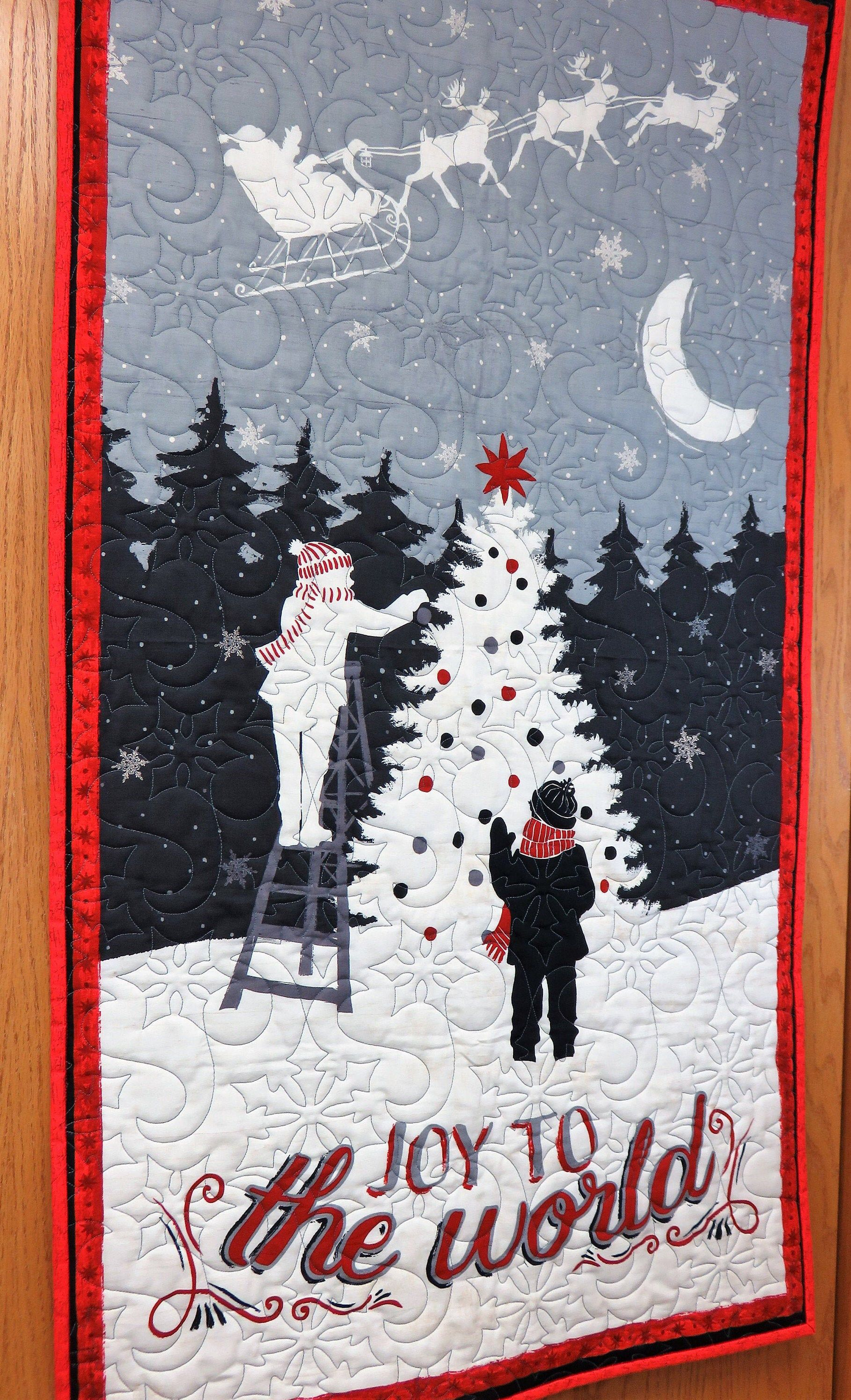 Handmade Christmas Wall Hanging For Sale Winter Wall Hanging Etsy Christmas Wall Hangings Holiday Quilts Handmade Christmas