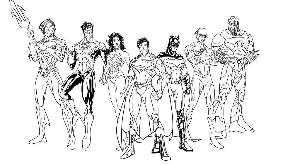 Justice League Coloring Pages free printable - Enjoy Coloring ...