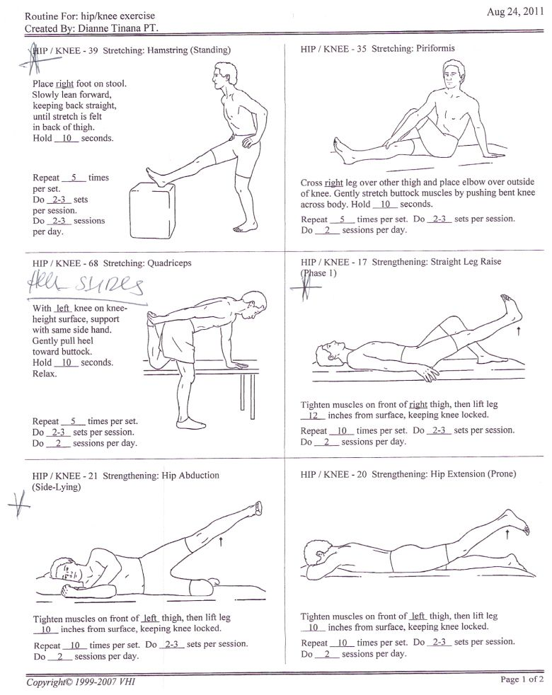 Hip Knee Exercises 1 (With images) Knee exercises