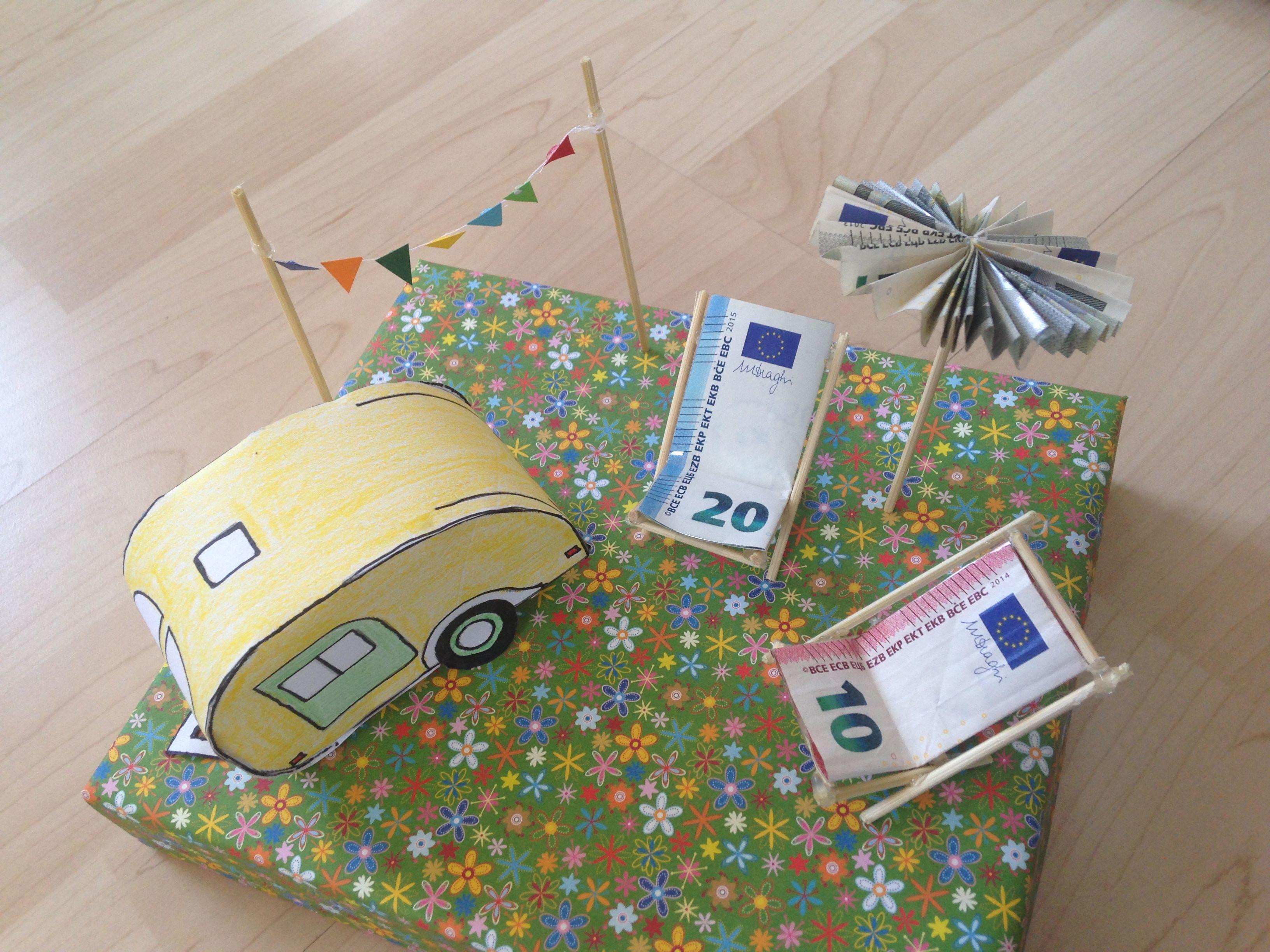 Geldgeschenk Wohnwagen  Geschenke