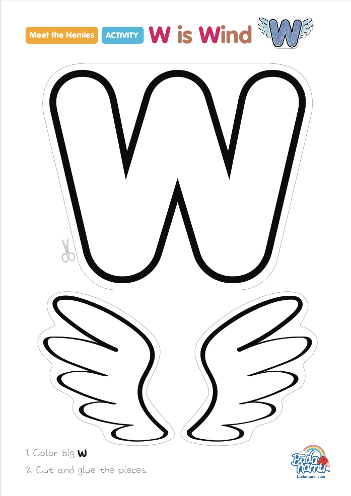 'W is Wind' craft! A whole craft series to go with our