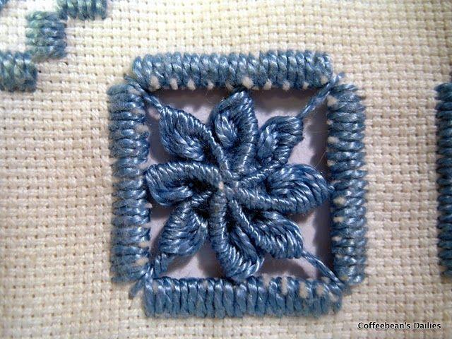 Edelweiss hardanger stitch. Ever so pretty.