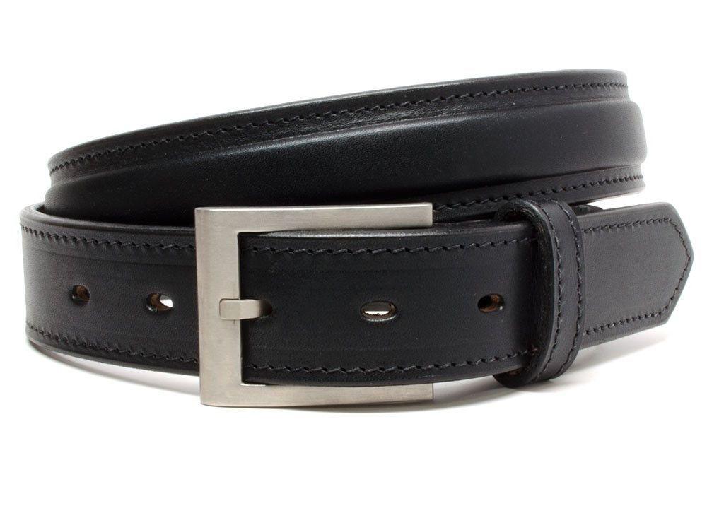 Nickel free belt is Amish made in USA; black genuine