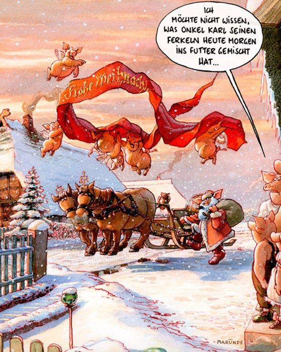 Frohe Weihnachten Jager.Marunde Frohe Weihnachten Schweinefutter Adventszeit Merry