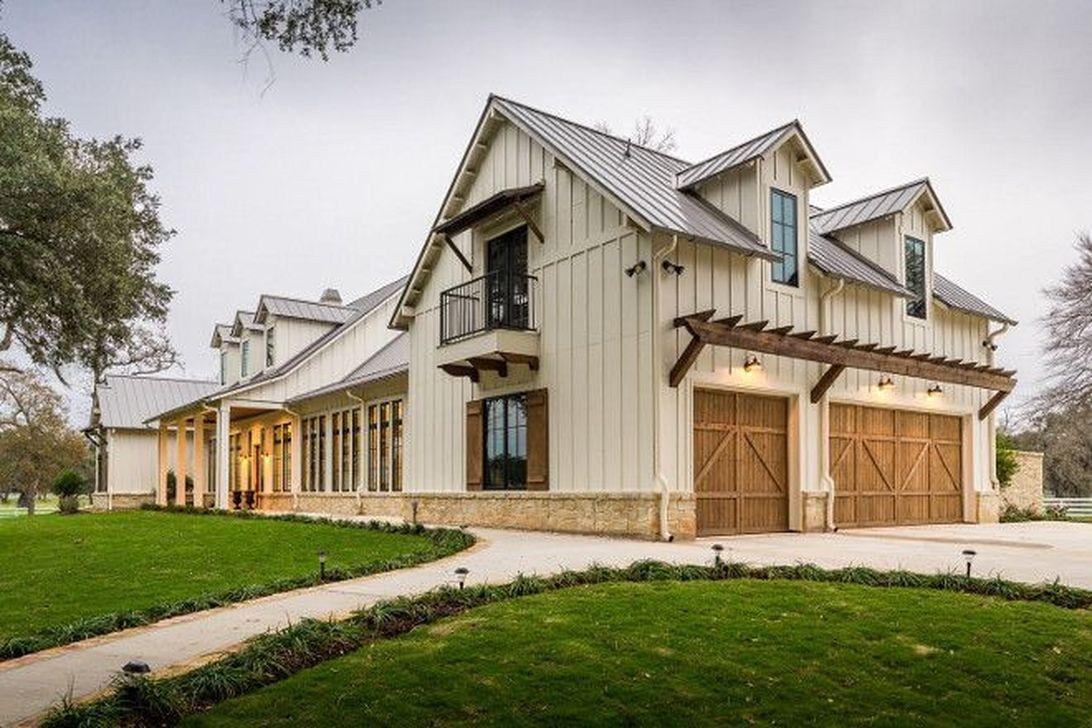 20 affordable modern farmhouse exterior plans ideas - Rustic modern farmhouse exterior ...