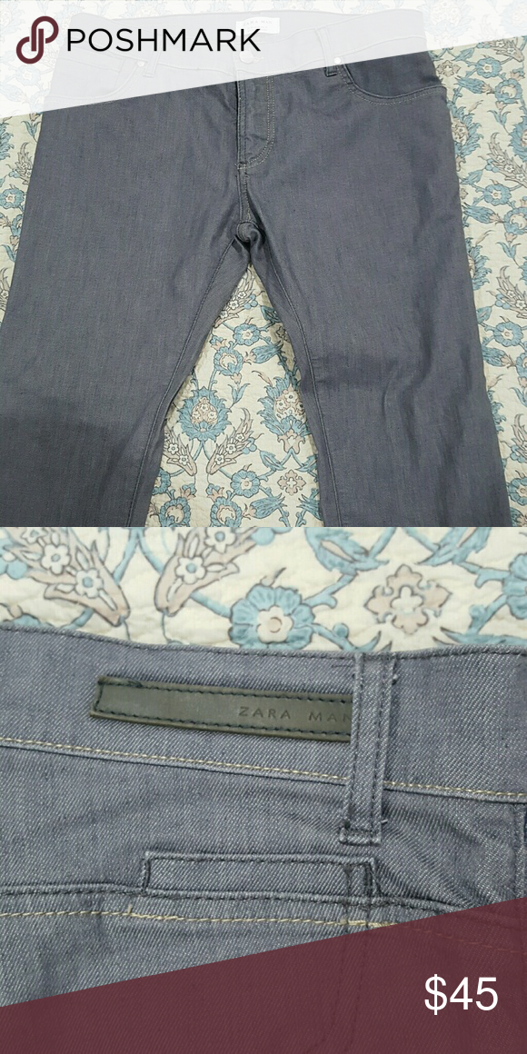 Zara Man jeans Very nice , worn once Zara jeans, very unique texture, almost slack like 33x34 can be hemmed to your size Zara Jeans Straight