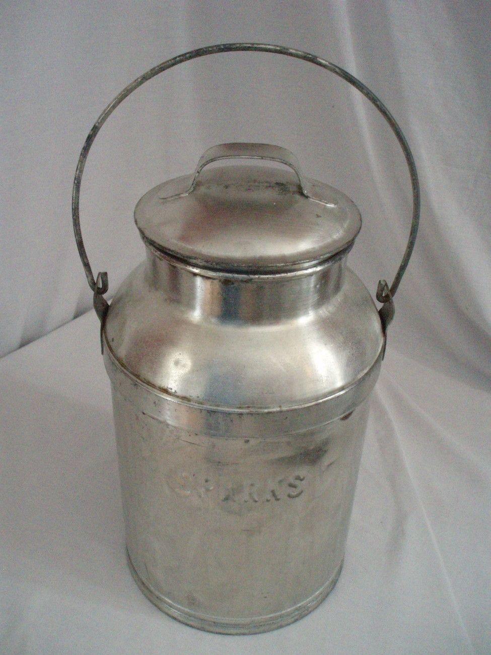 Vintage 3 Gal Metal Dairy Farm Milk Can Container Sparks Old Milk Cans Vintage Milk Can Milk Cans