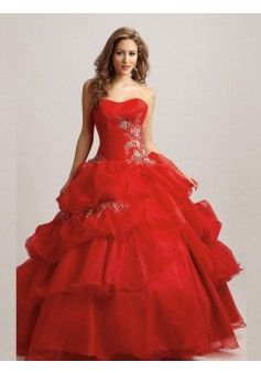 Ball Gown Sweetheart Organza Quinceanera Dresses #USAZT340 - See more at: http://www.iavivadress.com/special-occasion-dresses/ball-gowns-quinceanera-dresses.html?p=2#sthash.Y0wZVom1.dpuf