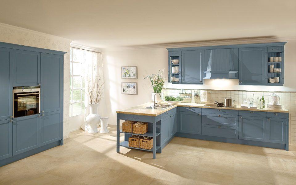 Küche Co einbauküche landhausstil in blau küche co küche