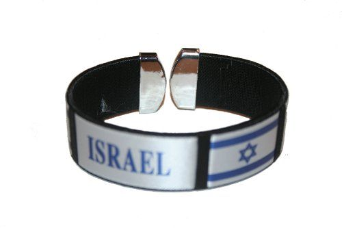 Israel Black Country Flag THICK C' Bracelet Wristband.. New SUPERDAVES SUPERSTORE http://www.amazon.com/dp/B00GGNWBK2/ref=cm_sw_r_pi_dp_bAt7tb0DD51FX