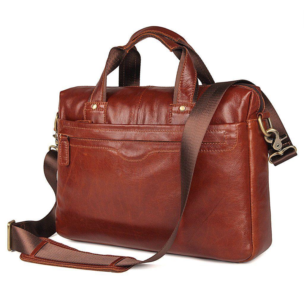 df4c2b53da5c Bella Vista Leather Laptop Messenger Bag - Reddish Brown-Universal Store  London™