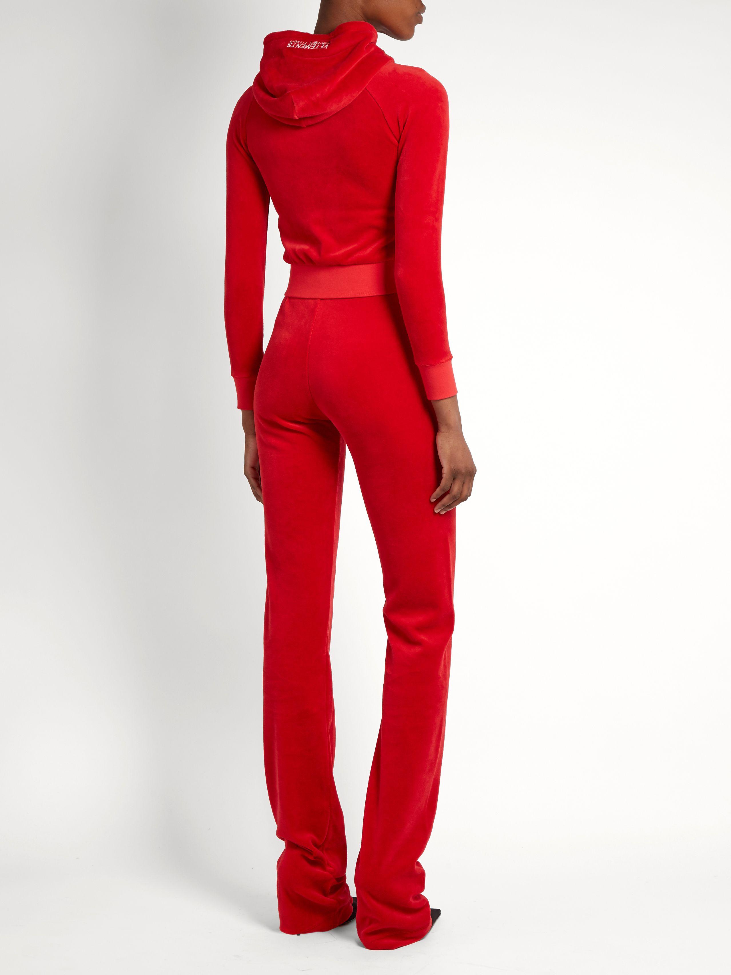 X Juicy Couture cotton-blend velour tracksuit  959eb08f2