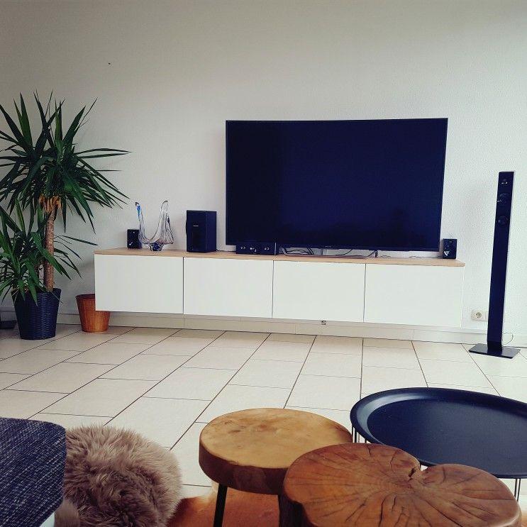 Eiken Tv Meubel Gamma.Love This Ikea Hack Ikea Besta Kastjes Gamma Plank Licht Eiken