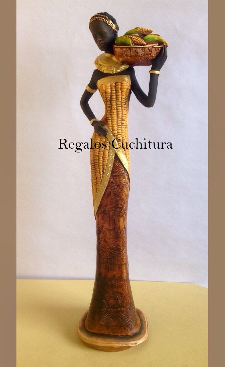 Figuras esculturas negras africanas en yeso para Esculturas decoracion