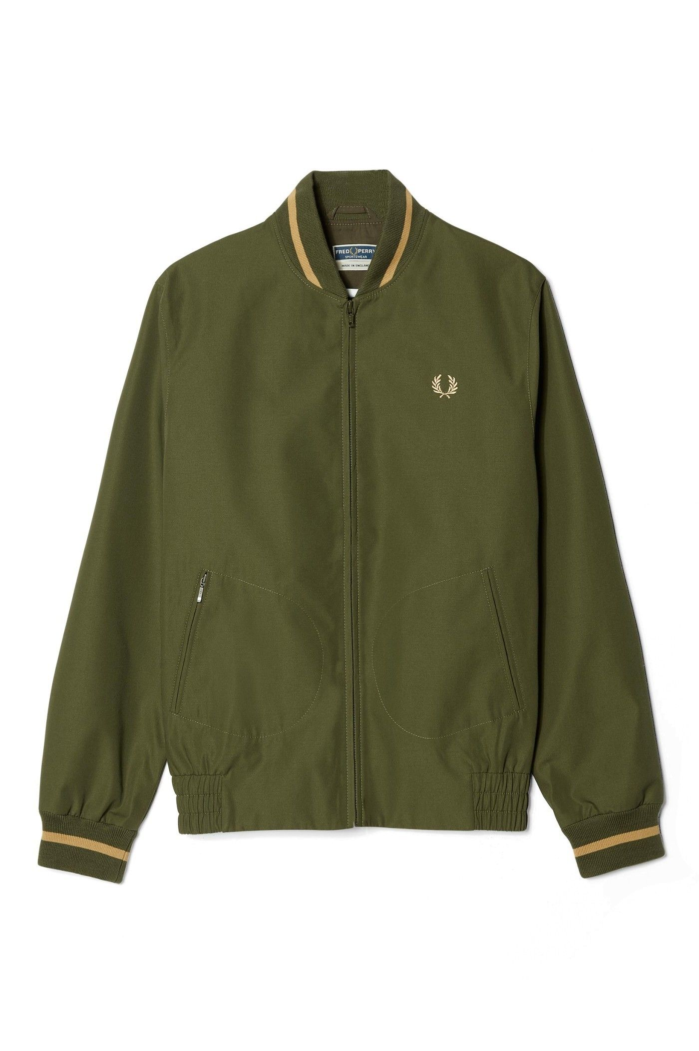 879dfbf72 Fred Perry - Reissues Made In England Tennis Bomber Olive | gear ...