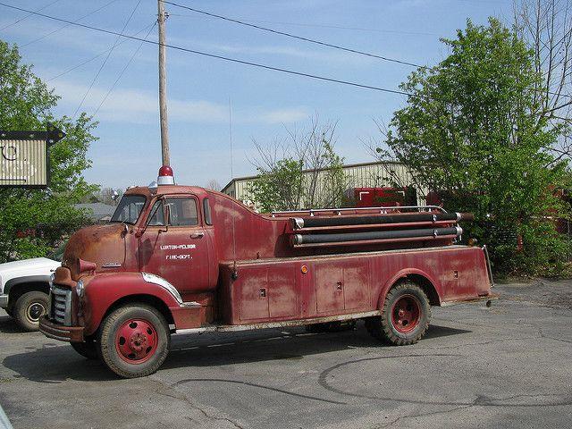 Gmc Firetruck Fire Trucks Rescue Vehicles Old Trucks