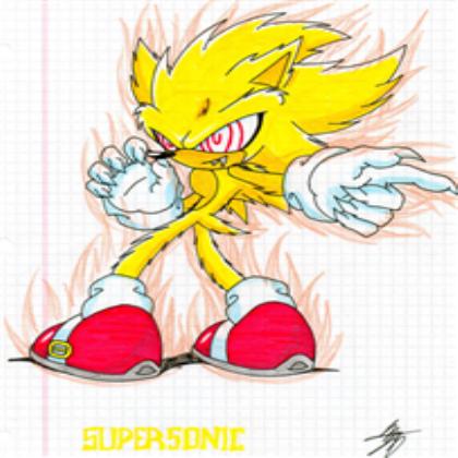 Evil Super Sonic Fleetway Cartoon Network Art Sonic Evil