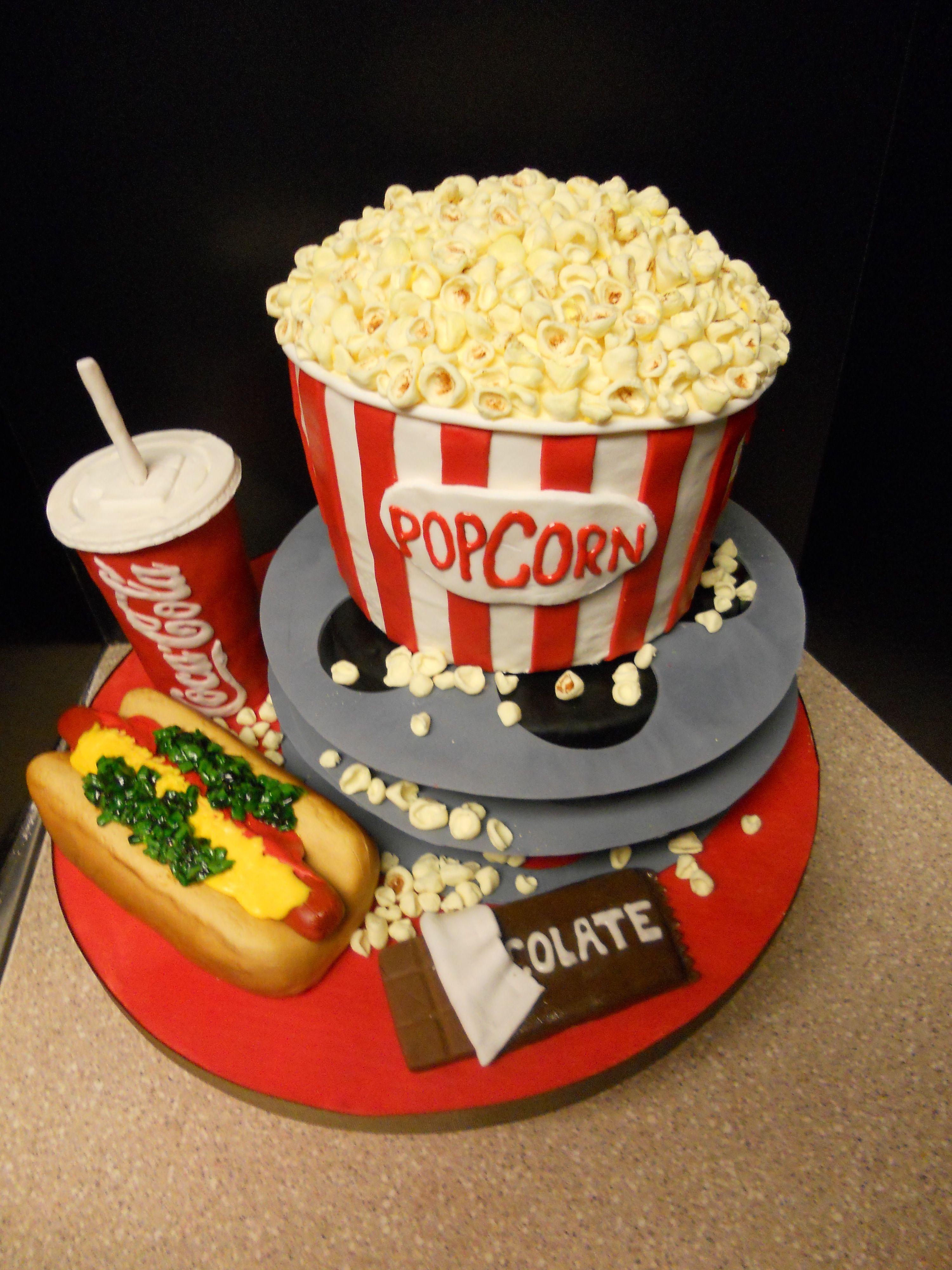 Its Showtime Movie Cakes Cake And Movie - Movie themed birthday cake