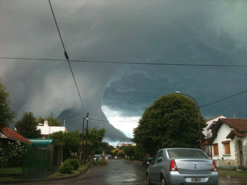 Nube en Mar del Plata Enero 2015