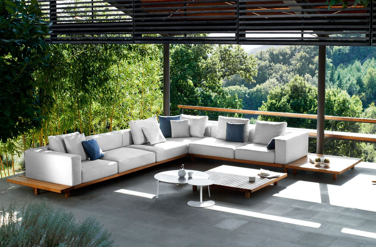 L shaped sofa outdoor teak wood furniture white leather sofa pad with wooden panel round pure tables wooden balcony with