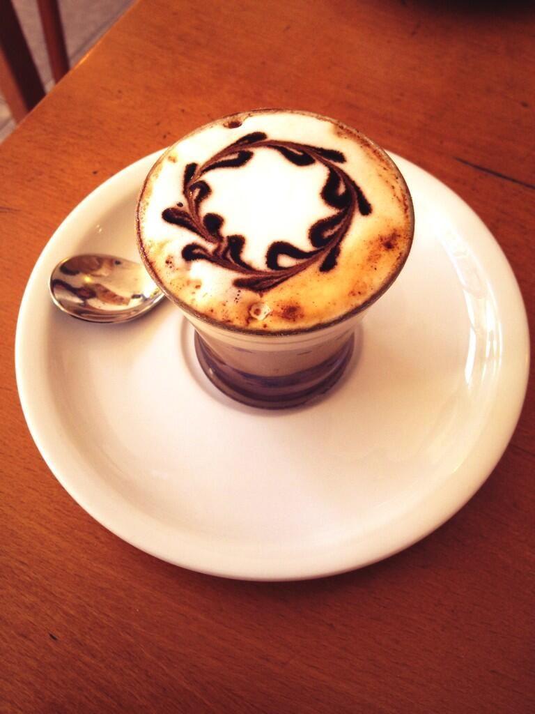 cafe, leche y nutella